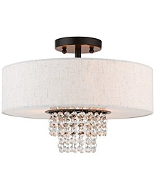 Carlisle 3-Light Semi-Flush Mount