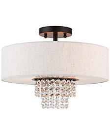 Livex Carlisle 3-Light Semi-Flush Mount