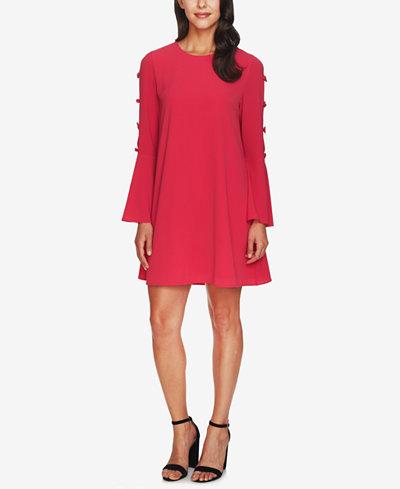 CeCe Bell-Sleeve Bow Dress