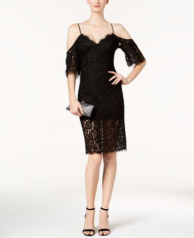 Bardot Karlie Lace Off-The-Shoulder Dress
