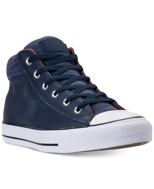 ebb05c565640 ... Converse Men s Chuck Taylor All Star Street Mid Leather Casual Sneakers  from Finish ...