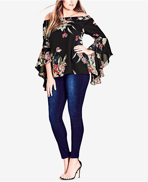 6920155333 City Chic Trendy Plus Size Off-The-Shoulder Top   Reviews - Tops ...