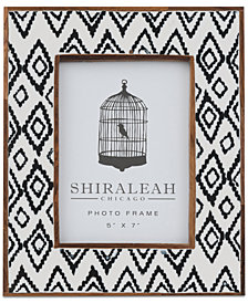 Shiraleah Boheme Ikat Print 5'' x 7'' Picture Frame