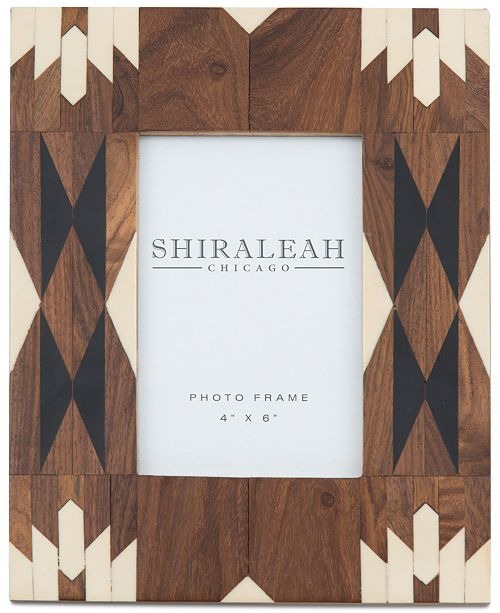 Shiraleah 4'' x 6'' Picture Frame with Native-Inspired Inlay