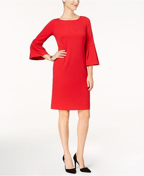ec195906 Jessica Howard Petite Bell-Sleeve Sheath Dress & Reviews - Dresses ...