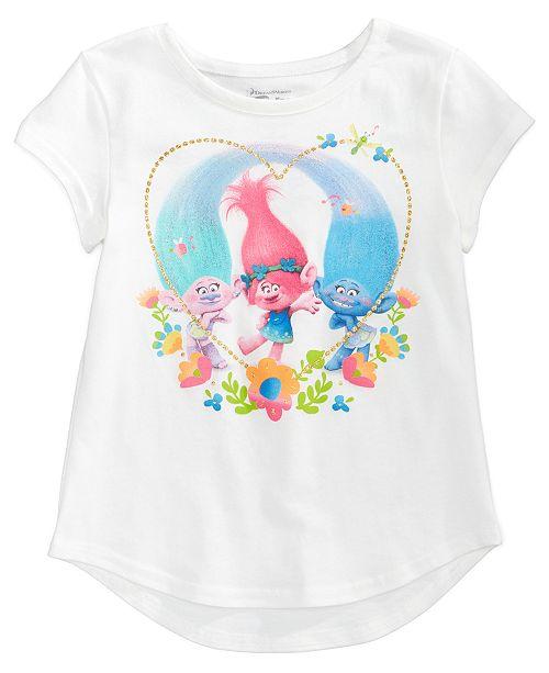 Trolls by DreamWorks Glitter-Heart T-Shirt, Toddler Girls