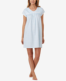 Eileen West Cotton Button-Front Nightgown