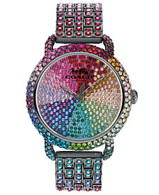 COACH Women's Delancey Multicolored Swarovski Bracelet Watch 36mm