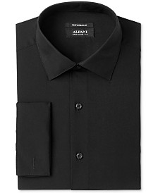 AlfaTech by Alfani Men's Classic/Regular Fit Solid French Cuff Dress Shirt, Created For Macy's
