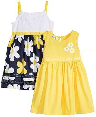 Blueberi Boulevard 2-Pack Printed Sundresses, Baby Girls