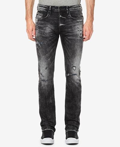 Buffalo David Bitton Men's Evan-X Slim-Straight Fit Destroyed Jeans