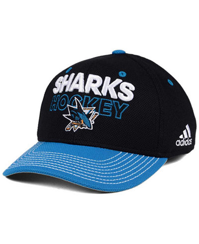 adidas San Jose Sharks Locker Room Structured Flex Cap