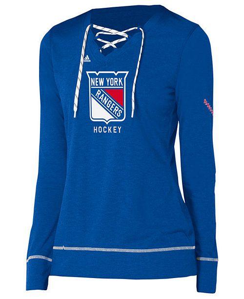 purchase cheap 8296e a8a75 adidas Women's New York Rangers Hockey Stitch Long Sleeve ...