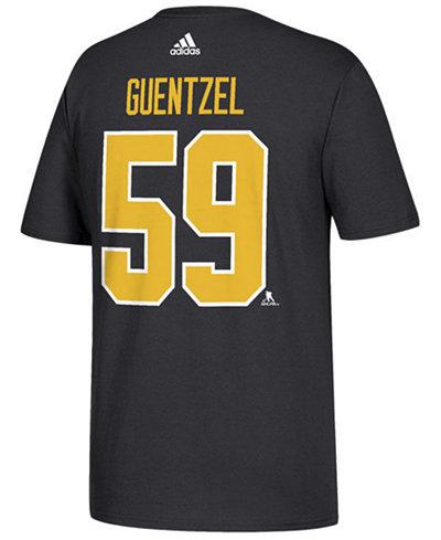 adidas Men's Jake Guentzel Pittsburgh Penguins Silver Player T-Shirt