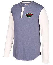 CCM Men's Minnesota Wild Long Sleeve Henley Shirt