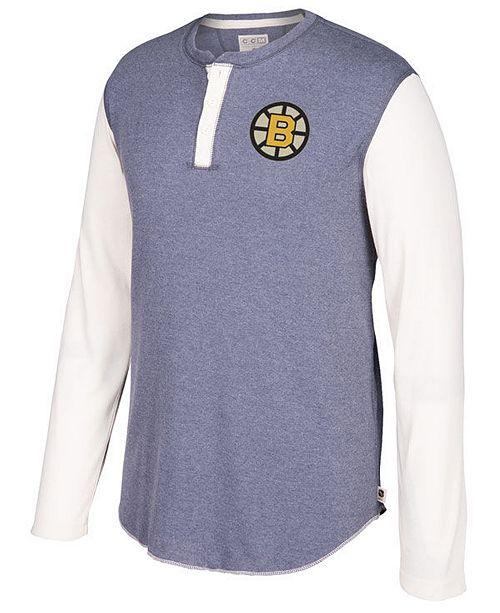 eaddd887f94 CCM Men s Boston Bruins Long Sleeve Henley Shirt - Sports Fan Shop ...