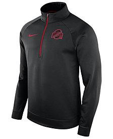 Nike Men's Ohio State Buckeyes Hypercolor Logo Quarter-Zip Pullover