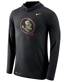 Nike Men's Florida State Seminoles Dri-Blend Hooded Long Sleeve T-Shirt
