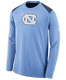 Nike Men's North Carolina Tar Heels Basketball Long Sleeve Shooter T-Shirt