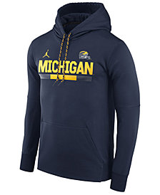 Nike Men's Michigan Wolverines Therma-Fit Sideline Hoodie