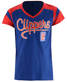 5th & Ocean Los Angeles Clippers Contrast Slub T-Shirt, Girls (4-16)
