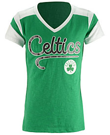 5th & Ocean Boston Celtics Contrast Slub T-Shirt, Girls (4-16)