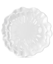 "Q Squared Peony 8.5"" Melamine Salad Plates, Set Of 4"