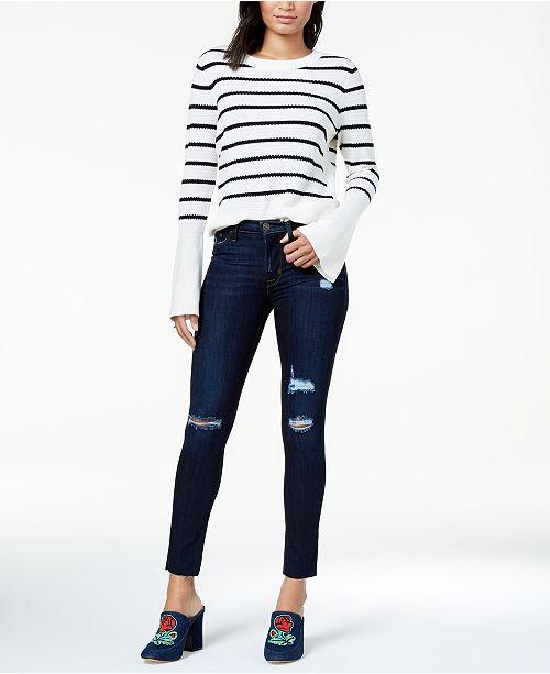 624e40358e3 Hudson Jeans Nico Ripped Raw-Hem Skinny Jeans   Reviews ...