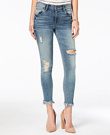 STS Blue Emma Mid Rise Extreme Fray-Hem Skinny Jeans