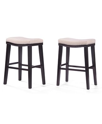 Noble House Almar Backless Bar Stool Set Of 2 Quick Ship