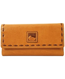 Florentine Pebble Leather Checkbook Organizer