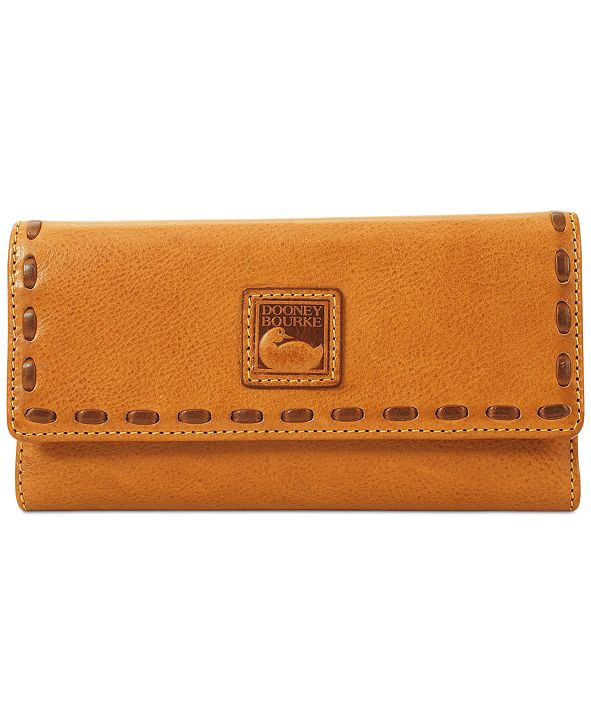Dooney & Bourke Florentine Pebble Leather Checkbook Organizer