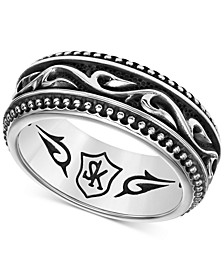 Men's Engraved Band in Sterling Silver