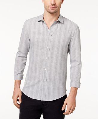 Vince Camuto Men's Slim-Fit Pinstripe Sports Shirt