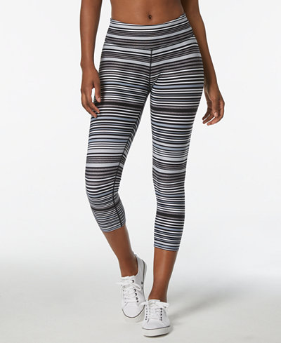 Calvin Klein Performance Journey Striped Capri Leggings