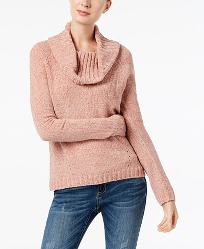 INC International Concepts Petite Cowl-Neck Chenille Sweater ...