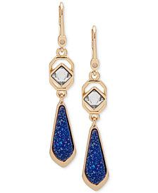 Ivanka Trump Gold-Tone Glitter Drop Earrings