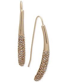 Ivanka Trump Gold-Tone Pavé Threader Earrings