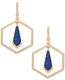 Ivanka Trump Gold-Tone Octagon and Stone Orbital Drop Earrings