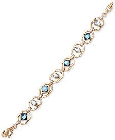 Ivanka Trump Gold-Tone Openwork Stone Link Bracelet