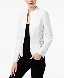 I.N.C. Lace-Inset Jacket, Created for Macy's