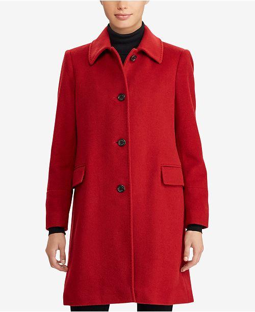 Lauren Ralph Lauren Walker Wool-Cashmere Blend  Coat