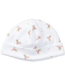 Ralph Lauren Baby Girls Bear Cotton Hat