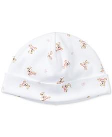 Ralph Lauren Baby Girls Bear Cotton Hat