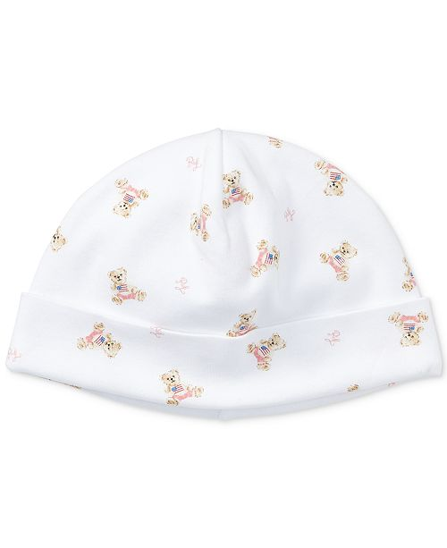 bdbc0bfe Polo Ralph Lauren Ralph Lauren Baby Girls Bear Cotton Hat ...