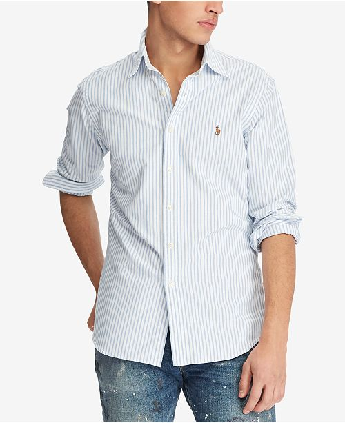 8e7c63b56e Polo Ralph Lauren Men s Classic-Fit Shirt   Reviews - Casual Button ...