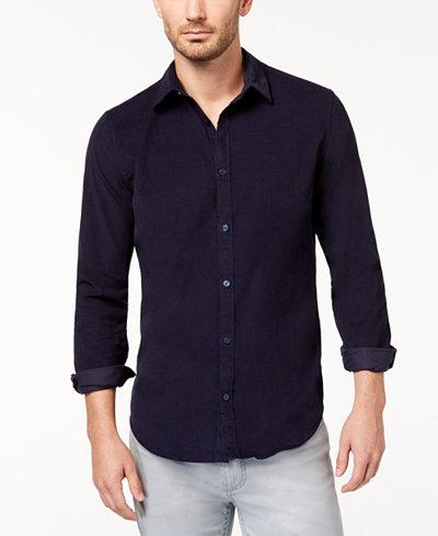 Calvin Klein Jeans Men's Solid Corduroy Shirt