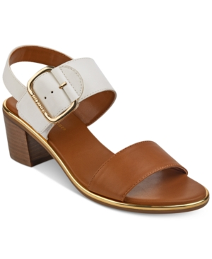 97a33efa5ed TOMMY HILFIGER Katz Block-Heel Dress Sandals Women S Shoes