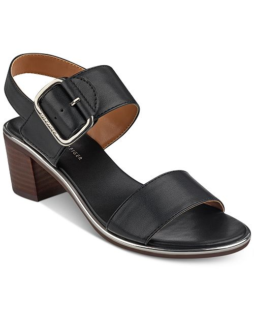 f90fcab61d3e Tommy Hilfiger Katz Block-Heel Dress Sandals   Reviews - Sandals ...
