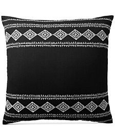 Lucky Brand Embroidered Ikat European Sham, Created for Macy's